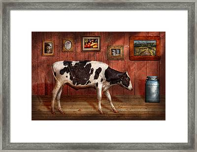 Animal - The Cow Framed Print by Mike Savad