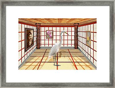 Animal - The Egret Framed Print by Mike Savad