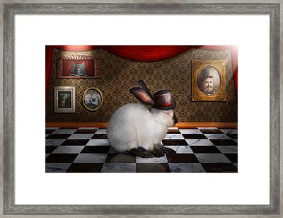 Animal - The Rabbit Framed Print by Mike Savad