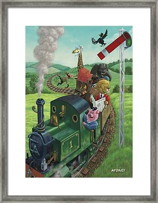 Animal Train Journey Framed Print by Martin Davey