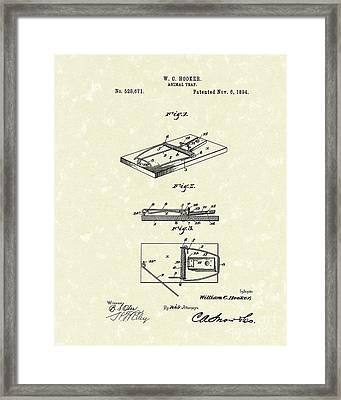 Animal Trap 1894 Patent Art Framed Print