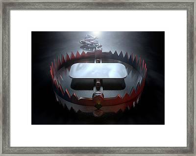 Animal Trap Dramatic Framed Print by Allan Swart