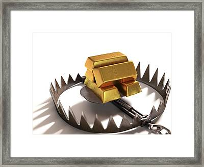 Animal Trap With Gold Bars Framed Print by Ktsdesign