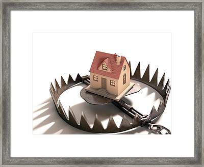 Animal Trap With House Framed Print by Ktsdesign