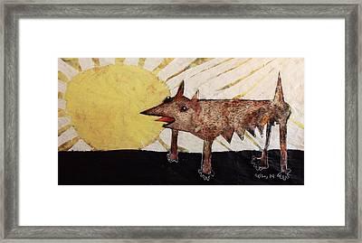 Animalia Canis Et Sol  Framed Print