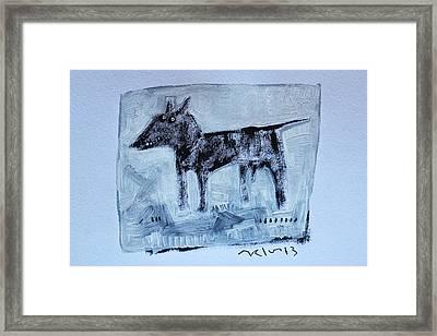 Animalia  Canis No 2 Framed Print by Mark M  Mellon