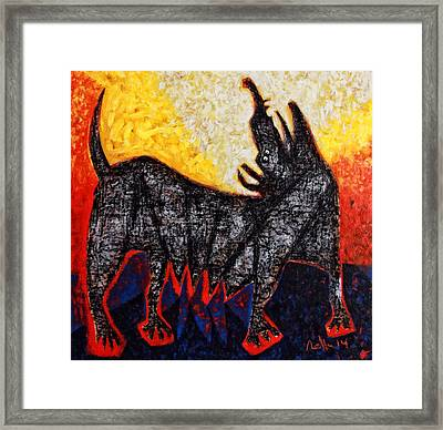 Animalia Canis No. 8  Framed Print by Mark M  Mellon