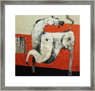 Animalia  Equos No 3 Framed Print by Mark M  Mellon
