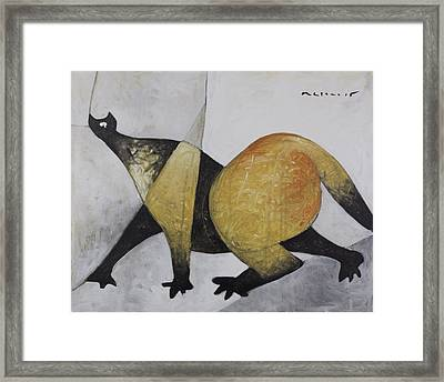 Animalia Prowling Cat  Framed Print by Mark M  Mellon
