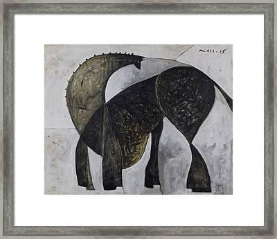 Animalia Standing Horse  Framed Print by Mark M  Mellon