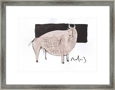 Animalia Taurus No. 7  Framed Print by Mark M  Mellon
