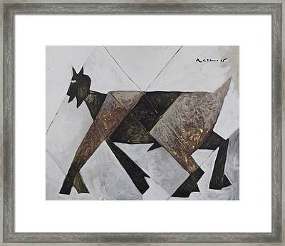 Animalia Walking Goat  Framed Print by Mark M  Mellon