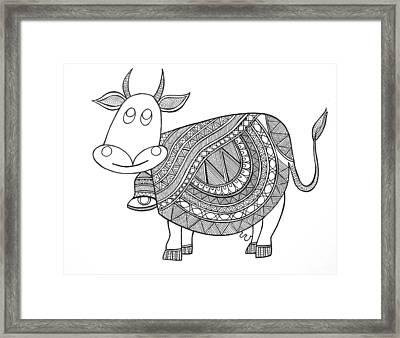 Animals Cow 3 Framed Print by Neeti Goswami
