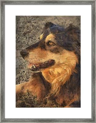 animals - dogs - Faithful Friend Framed Print by Ann Powell