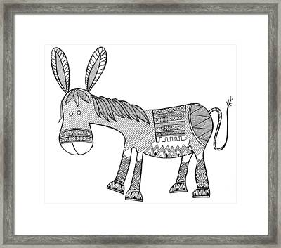Animals Donkey Framed Print by Neeti Goswami