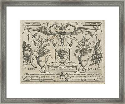 Animals, Plants And Fruits Around A Skull Framed Print