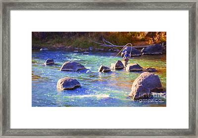 Animas River Fly Fishing Framed Print