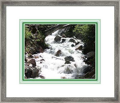 Animas River Southern Colorado Framed Print by Jack Pumphrey