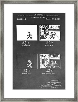 Animation Framed Print