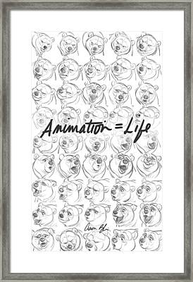 Animation  Life Framed Print