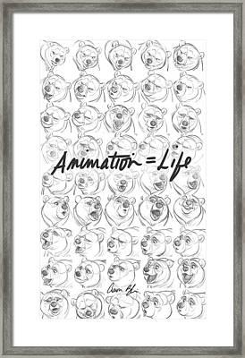 Animation  Life Framed Print by Aaron Blaise