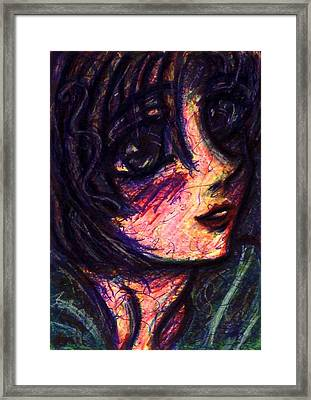 Anime Girl Framed Print