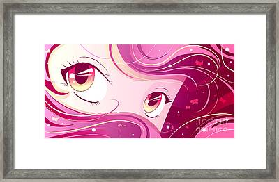 Anime Girl Framed Print by Sandra Hoefer