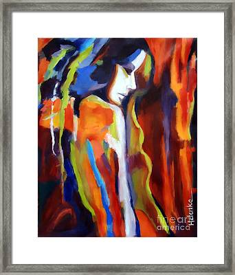 Framed Print featuring the painting Animus by Helena Wierzbicki