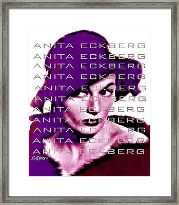 Anita Eckberg In Wine Framed Print
