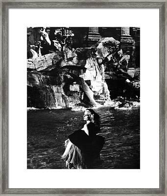 Anita Ekberg In La Dolce Vita  Framed Print