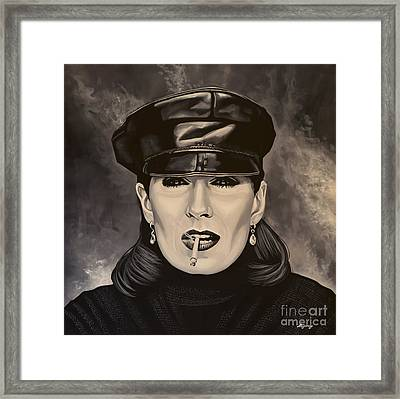 Anjelica Huston Framed Print by Paul Meijering