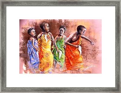 Framed Print featuring the painting Ankara Manifest by Oyoroko Ken ochuko