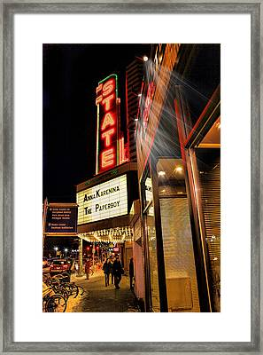 State Theater Marquee Framed Print