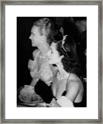 Ann Crowell Woodward And Brenda Frazier Framed Print by Nick De Morgoli