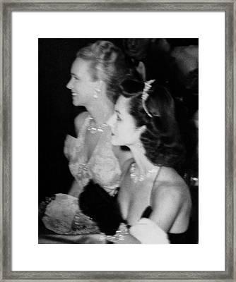 Ann Crowell Woodward And Brenda Frazier Framed Print by Nick De Morgoli