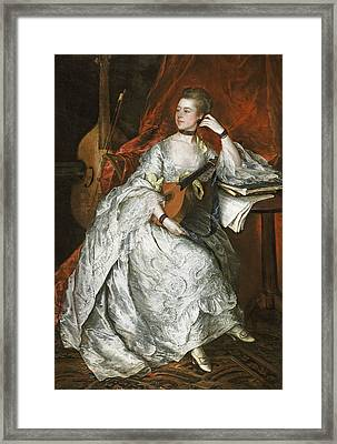Ann Ford Later Mrs Philip Thicknesse, 1760 Oil On Canvas Framed Print by Thomas Gainsborough