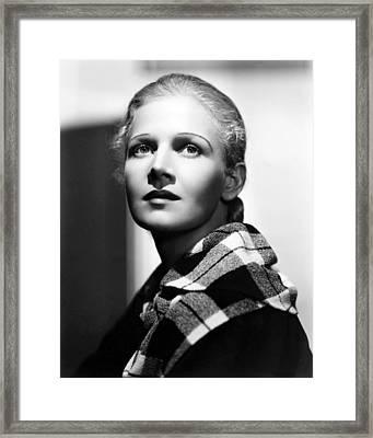 Ann Harding In Biography Of A Bachelor Girl  Framed Print