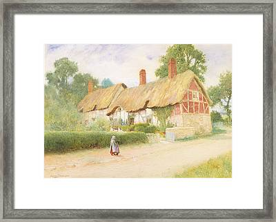 Ann Hathaway's Cottage Framed Print by Arthur Claude Strachan