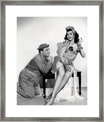 Ann Miller In Hey, Rookie  Framed Print by Silver Screen