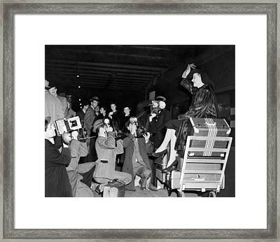 Ann Sheridan Arrives In Ny Framed Print by Underwood Archives