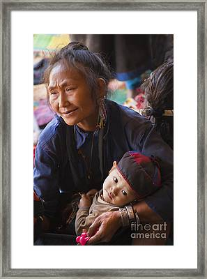 Ann Tribal Grandmother - Kengtung Burma Framed Print