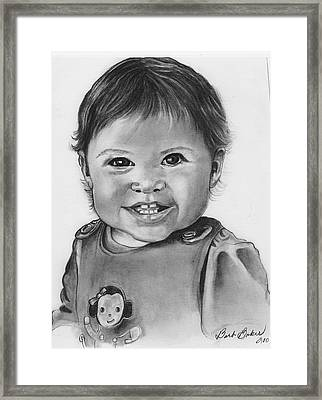 Anna Framed Print by Barb Baker
