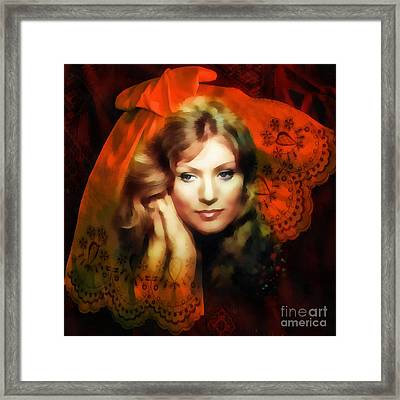 Anna German Framed Print by Mo T