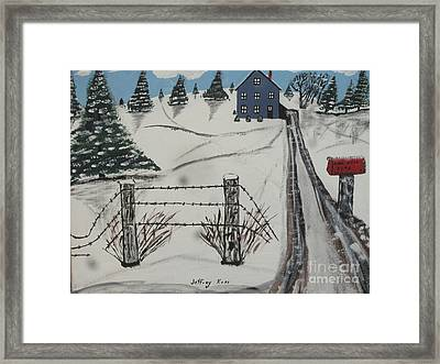 Anna Koss Farm Framed Print by Jeffrey Koss
