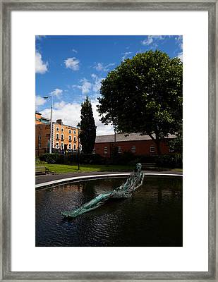 Anna Livia Sculpture In The Croppie Framed Print by Panoramic Images