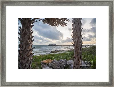 Anna Maria City Pier Framed Print by Kay Pickens