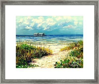 Anna Maria Island Pier Framed Print