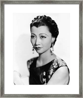 Anna May Wong, Paramount Portrait, 1934 Framed Print