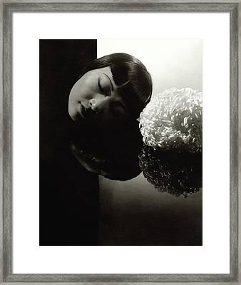 Anna May Wong Resting Her Head Framed Print by Edward Steichen