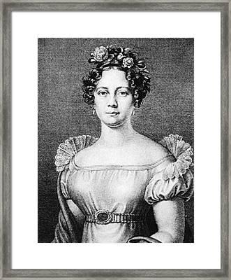 Anna Milder-hauptmann (1785-1838) Framed Print by Granger